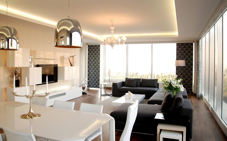 Mekanlar ametist residences for 30 metrekare salon dekorasyonu